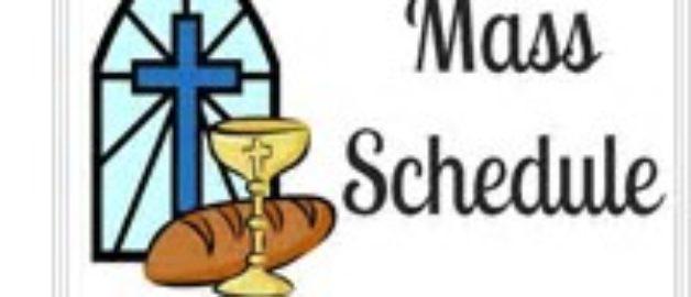 Special Mass Schedule