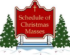 Christmas and Holy Day of Obligation Schedule