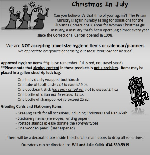 Christmas In July – Saints Peter and Paul